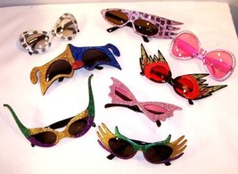 6 PAIR CRAZY PARTY GLASSES parties supplies costumes - $22.55