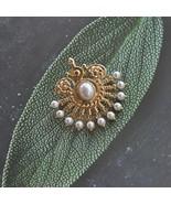 F.J4Z New Luxurious Brooches Women Nova Antique Gorgeous Faux Pearl Fan ... - $12.78