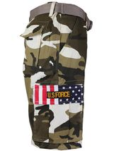 SW Men's US Force Military Army Multi Pocket Camouflage Cargo Shorts with Belt image 6