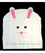 White Pink Felt EASTER BUNNY RABBIT CHAIR COVER Spring Holiday Party Dec... - $3.89