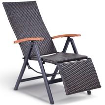 Garden Folding Rattan Aluminum Recliner Chair - $116.94