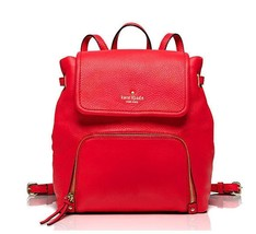 Kate Spade Cobble Hill Charley Soft Leather Backpack In Crab Red NWT - $263.67 CAD