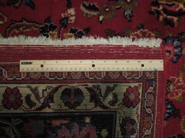 Red Wool Rug 10' x 12' Scarlet Vivid Original Traditional Persian Handmade Rug image 8