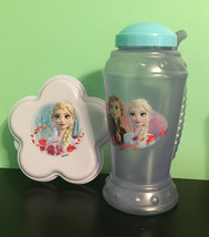 Disney Frozen 2 Drink Cup W/ Handle/Straw & Snack Container Both Items. New - $9.95