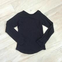 Justice Black Long Sleeve Tee Girls 8 Believe In Yourself Tshirt Top - $12.86