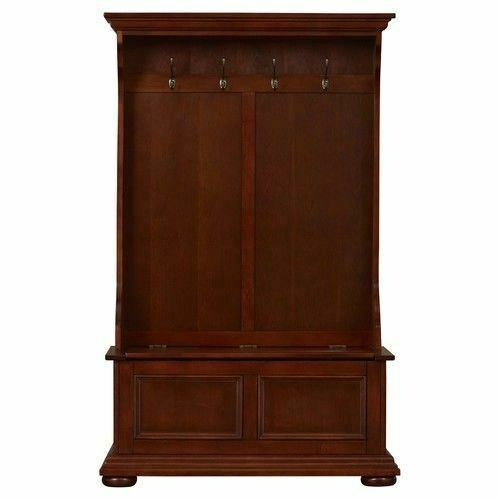 Tremendous Brown Finish Wooden Hall Tree Coat Rack Hat And 50 Similar Items Dailytribune Chair Design For Home Dailytribuneorg