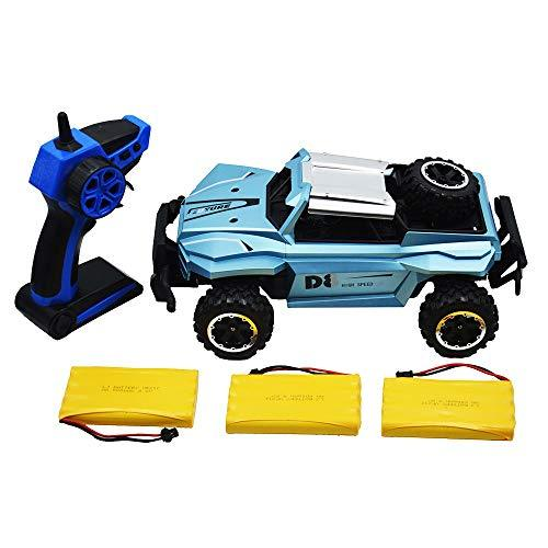 Blomiky High Speed Racing Black Blue RC Trucks Remote Control Cars 1/16 Scale 4W