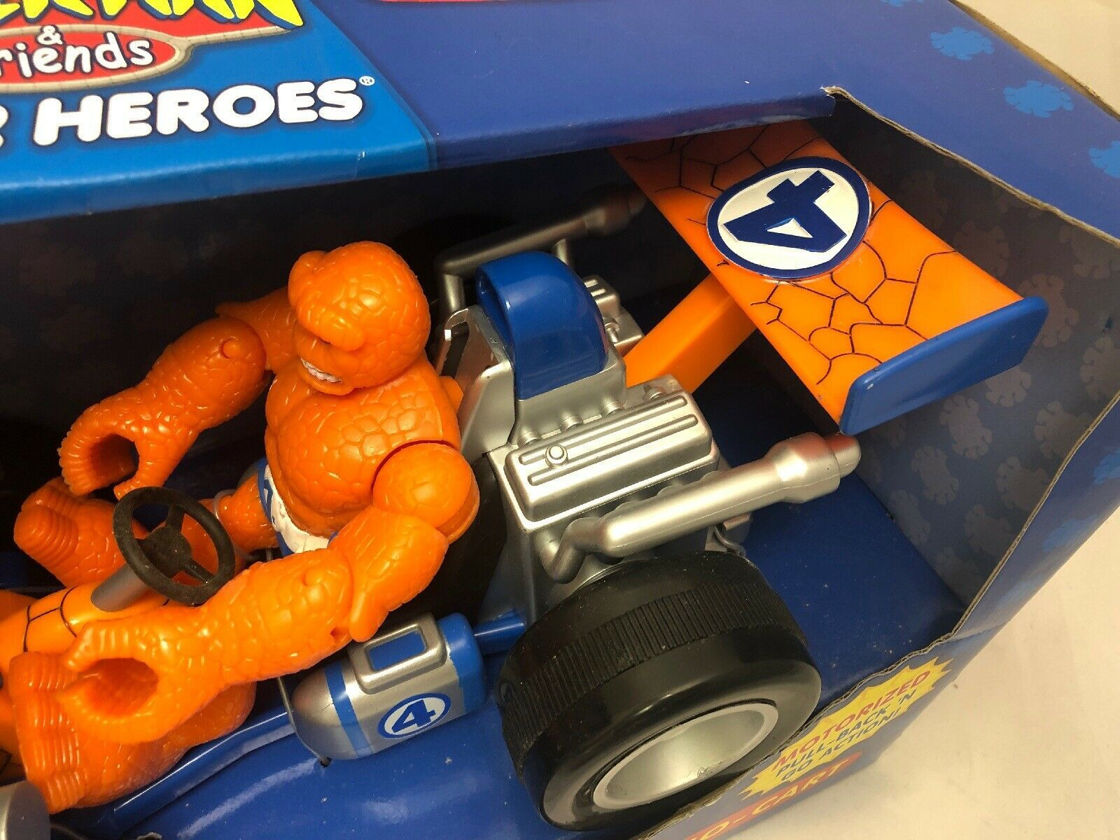 Marvel Spider-Man & Friends The Thing You Go- Cart Motorized Pull Back Go Action image 8