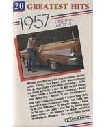 Various Artists: 20 Greatest Hits 1957 - Vintage Audio Cassette Tape - $12.86