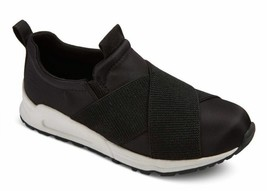Brand New Girls Stevies #RUN4IT Childrens Kids Elastic Black Jogger Sneakers