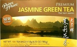 1 Box, Prince of Peace Premium Jasmine Green Tea 6.35Oz/180g - 100 Tea Bags - $9.95