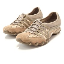 Skechers Bikers Sneakers Taupe Slip On Walking Casual Shoes Womens 8 SN ... - €20,92 EUR