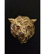 Vintage Faberge Original Cat Tigress Necklace Pendant Gold Locket - $40.00