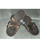 Merrell Alyssum Brown Leather Sandals Thong Shoes 975138 Size 8 - $32.99