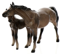 Hagen-Renaker Miniature Ceramic Horse Figurine Thoroughbred Mare and Colt Set  image 8