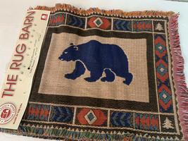 NWT USA Made The Rug Barn 4 Tapestry Placemats bear, deer, wolves, trees... - $23.33