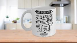 Bible Quote Joshua 24:15 The Lord Christian Mug - $14.65+