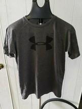 Under Armour Grey Heat Gear Short Sleeve T-Shirt Boys Youth XL - $7.99