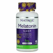 Natrol Melatonin Time Release 5 mg 100 Tablets Egg-Free, Fish Free, Milk... - $10.84