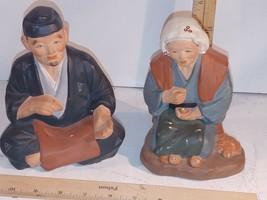 Vintage Arnart Creation Ceramic Seated Man & Woman Made in Japan - $12.00