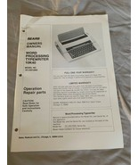 Vintage Sears Word Processing Typewriter 10K40 Instruction Manual - $14.84