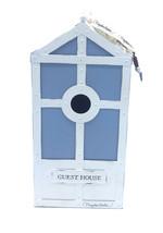 Hallmark Marjolein Bastin GUEST HOUSE METAL BIRDHOUSE W/ TROWEL CHARM BLUE - $16.79