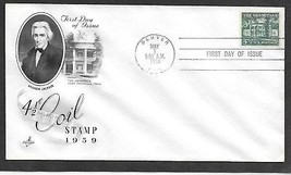 USA 1959 Sc 1059 COIL STAMP  ArtCraft Hermitage Andrew Jackson FDC - $1.99