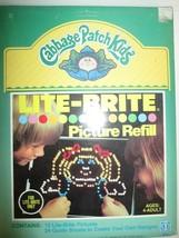 1984 Hasbro Lite-Brite Cabbage Patch Kids Picture Refill - $19.79