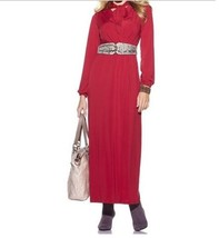 Women's Silky jersey knit retro maxi dress Church Cruise party evening p... - $59.39