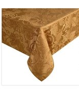 Elrene Harvest Leaves of Fall Stain Release Damask Tablecloth (Bronze, 5... - $27.93