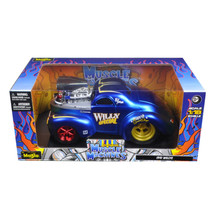 1941 Willys Coupe Blue Muscle Machines 1/18 Diecast Model Car by Maisto ... - $69.15