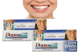 2 x 50ml. Depurdent Toothpaste Extra White Remove Stains due to Coffee a... - $29.39