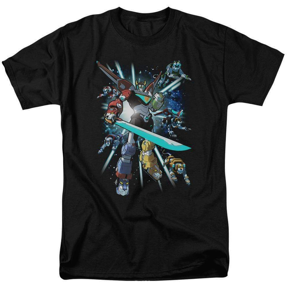 Voltron t-shirt retro 80s animation The Mighty Robot anime graphic tee DRM333