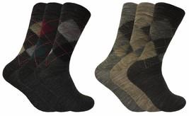 3 paires homme fines chaudes fantaisie laine chaussettes en gris et marron - $7.50