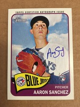 2014 Topps Heritage Aaron Sanchez #ROA-AS Rookie Auto Baseball Card Blue... - $14.99