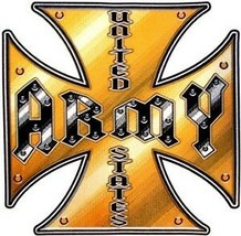 "ARMY IRON CROSS 12"" EMBROIDERED  JACKET BACK  PATCH - $31.58"