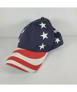 USA Flag American Patriotic Stars Stripes Snapback Hat Cap Red White Blue - $5.45