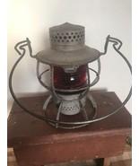 Vtg Dressel Arlington N J RailRoad Lantern 2157081 Corning  Red Globe Ad... - $98.99