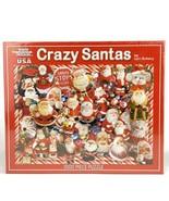 White Mountain Jigsaw Puzzle Crazy Santas 1000 Pieces Lori Schory Christmas - $29.44