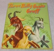 Tell A Tale Children's Book Three Billy Goat Gruff 1954 Leej Ames Illust... - $6.00