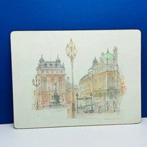 Lady Clare England vtg hamdmade dining placemat London Piccadilly theatr... - $19.15