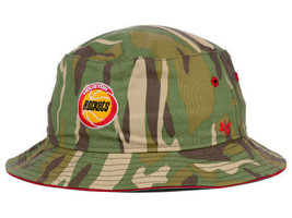 Houston Rockets '47 Nba Hwc Woodrow Bucket Woodland Camo Hat Cap S M Throwback - $18.78