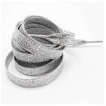 GOOTRADES Metallic Glitter Flat Shoelaces For Canvas Sneaker Athletic 45... - $15.61
