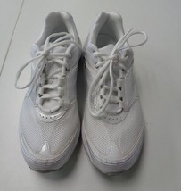 REEBOK White Lace Up Sneakers Shoes Size 8.5 Synthetic B3134 - $29.69