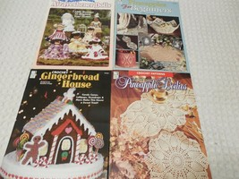 Lot of 4 House of White Birches Booklets Mixed lot of Crochet Patterns - $8.98