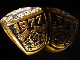 Vintage Baseball Ring - 1977 championship - New York Coach gift -  Yankees image 2