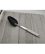 "Nylon Solid Spoon 11"" White with Feather Handle Metal Stainless Shaft - $14.99"