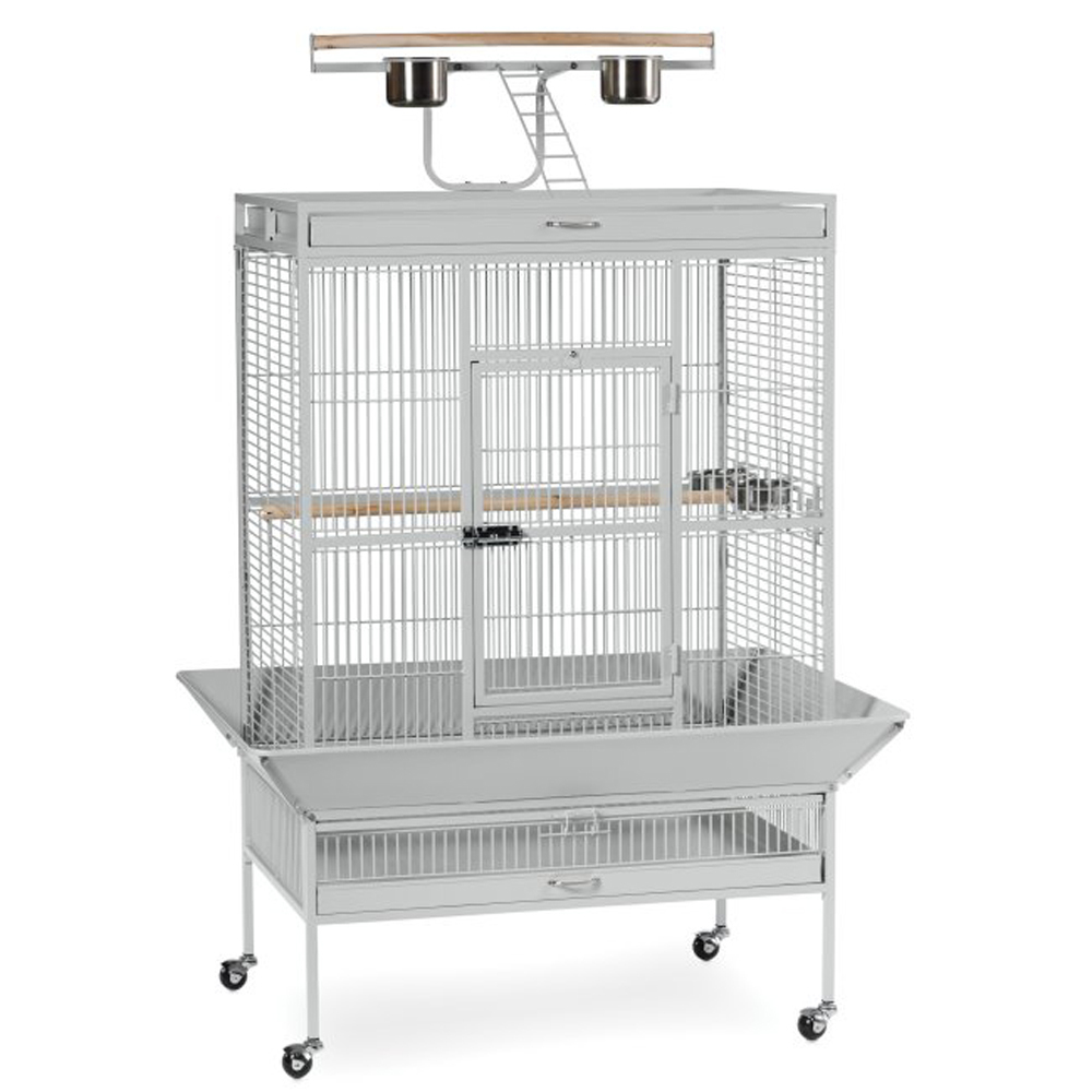 Prevue Hendryx Select Wrought Iron Play Top Parrot Cage - Pewter 961-PP-3154W