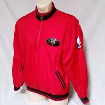 VTG Chicago Bulls Pro Player Windbreaker Jacket 90's Colorblock Warm Up ... - $49.00