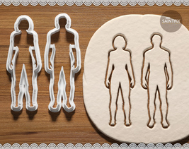 Man and Woman Silhouette Set. Cookie Cutter. Bakeware. 3D printed. Embos... - $8.99+